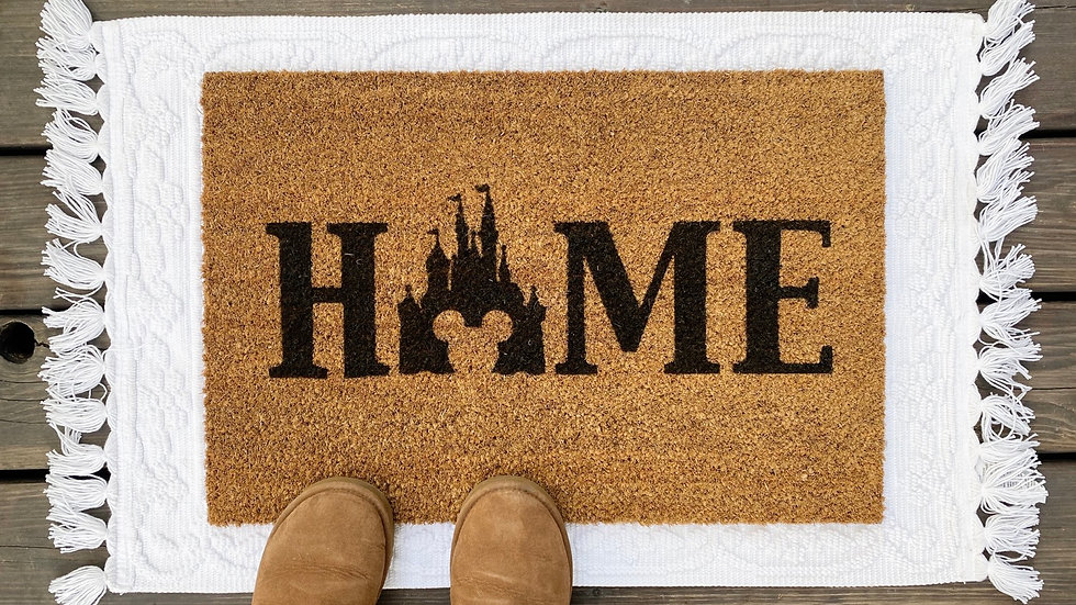 """The most Magical Place on Earth """"Home"""" Doormat"""
