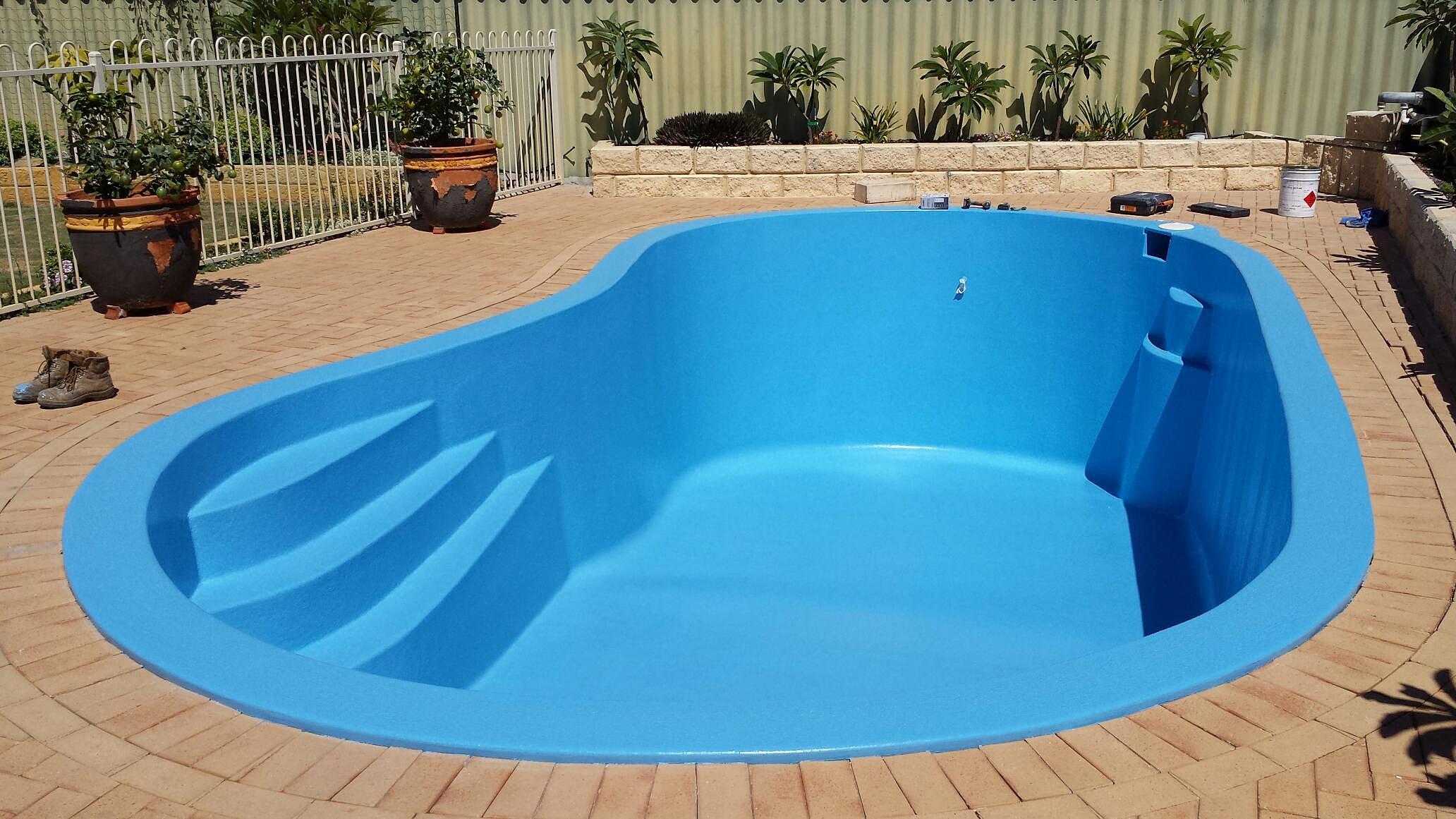 Swimming Pool Restorations : Perth fibreglass pools renovations resurfacing and