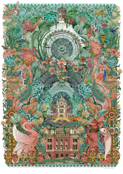 Secret Garden  Exclusive print created for the V&A Museum, inspired by the fabric, wallpaper and tapestry collections