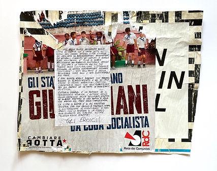 11.MI SENTO IN COLPA, affiche maturée 23  jours Piazza di S. Cosimato, Rome, 51 x 67 cm,20