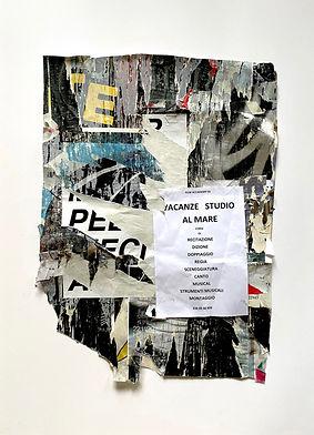 14._RICORDO LA MIA PELLE DIECI ANNI FA_, affiche maturée 10 jours Vicolo del Bologna, Rome