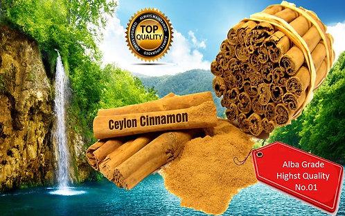 High Quality Pure ALBA GRADE Organic Ceylon CINNAMON Sticks