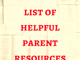 New Mom Ultimate List of Helpful Parent Resources