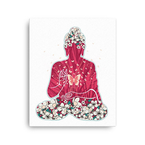 Canvas Print - Housewarming Gift - Buddha Flowers