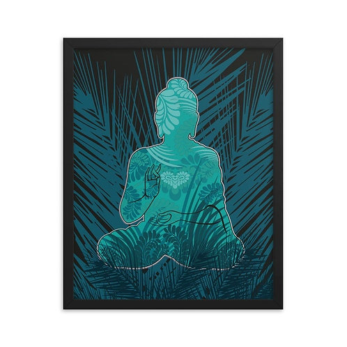 Framed Poster - Housewarming Gift - Buddha Turquoise