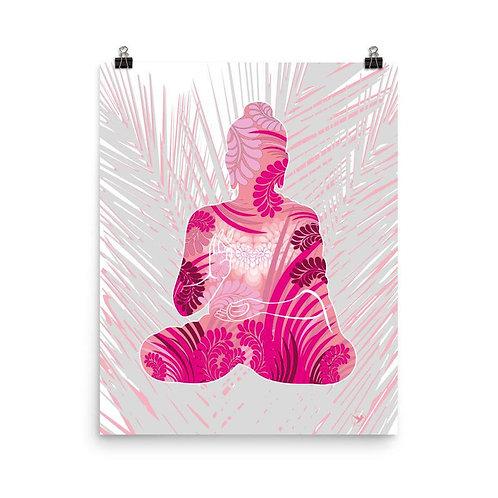 Photopaper Poster - Housewarming Gift - Buddha Pink
