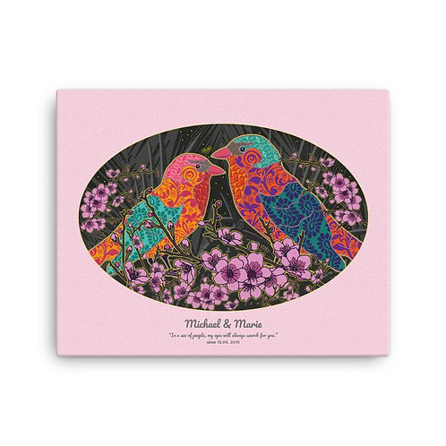 Canvas Print - Wedding Poster - Nightingale Pink