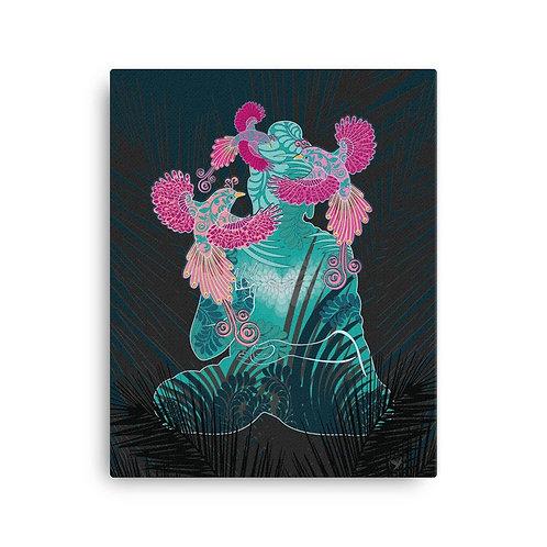 Canvas Print - Housewarming Gift - Buddha Birds White