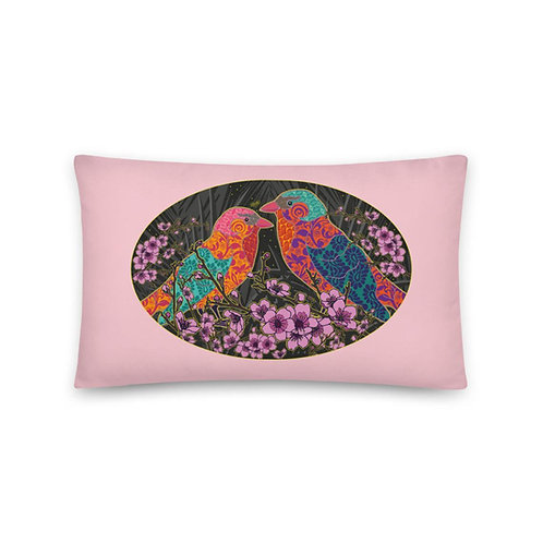 Wedding Pillow - Nightingale Pink