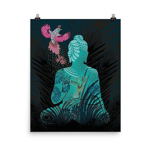 Photopaper Poster - Housewarming Gift - Buddha Fenix Black