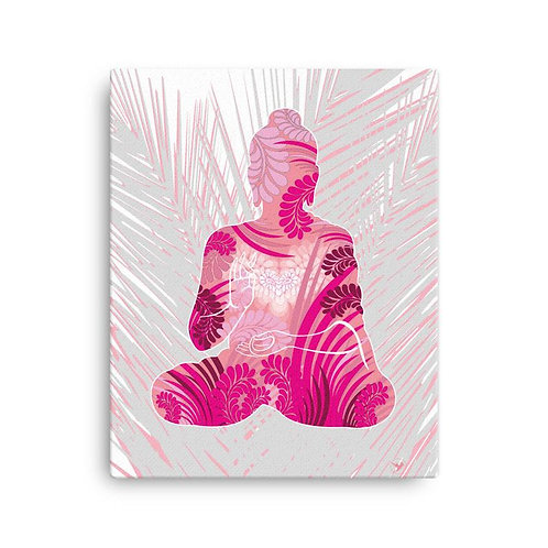 Canvas Print - Housewarming Gift - Buddha Pink