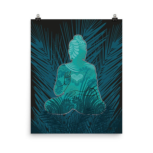 Photopaper Poster - Housewarming Gift - Buddha Turquoise