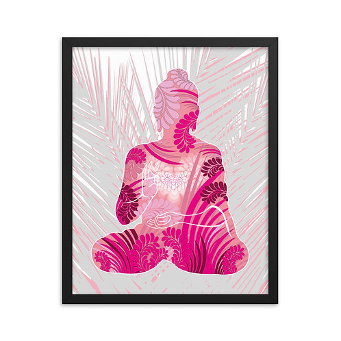 Framed Poster - Housewarming Gift - Buddha Pink