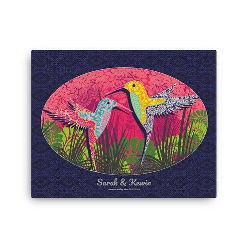 Canvas Print - Wedding Poster - Hummingbird Blue