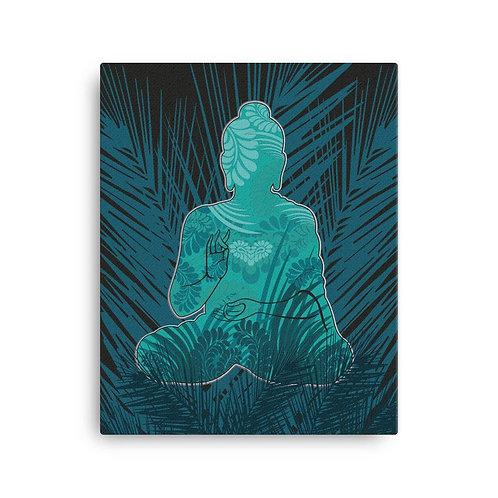 Obraz na plátne Budha tyrkysový