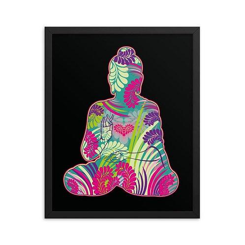Rámovaný plagát – Budha farebný
