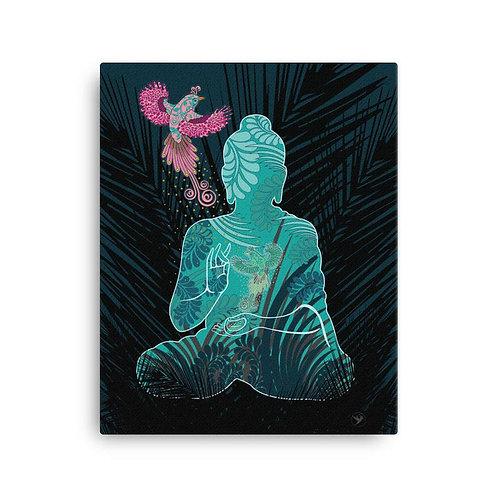 Canvas Print - Housewarming Gift - Buddha Fenix White