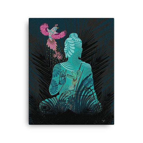 Canvas Print - Housewarming Gift - Buddha Fenix Black