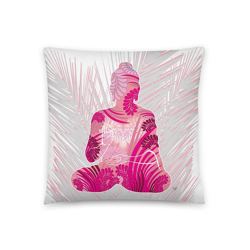 dizajnový vankúš s Budhom /ružová