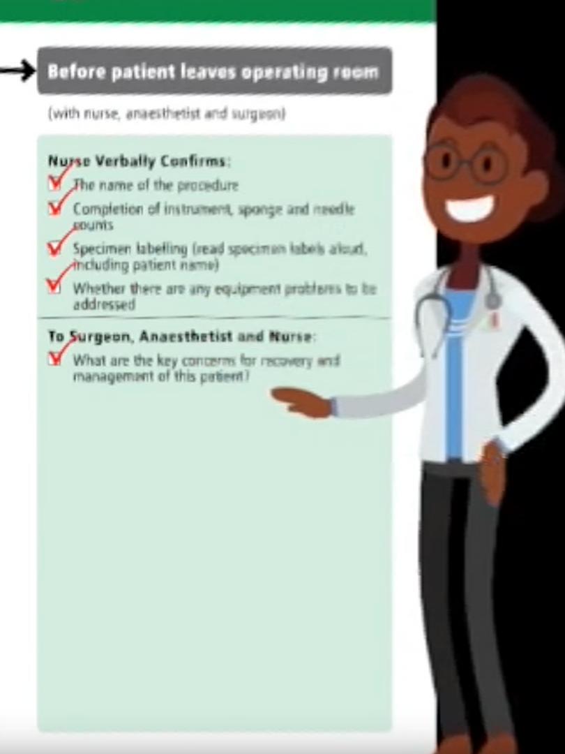 Safe surgical checklist