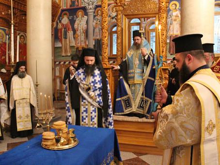 Тържествена вечерня в Ресиловския манастир за празника Покров Богородичен