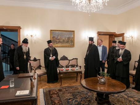 Софийският митрополит и Български патриарх Неофит благослови епархийските съветници в обновения си п