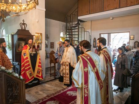 Св. цар Борис-Михаил Покръстител бе почетен с архиерейска вечерня в посветения на него столичен храм