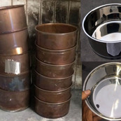 Polishing cooking pot