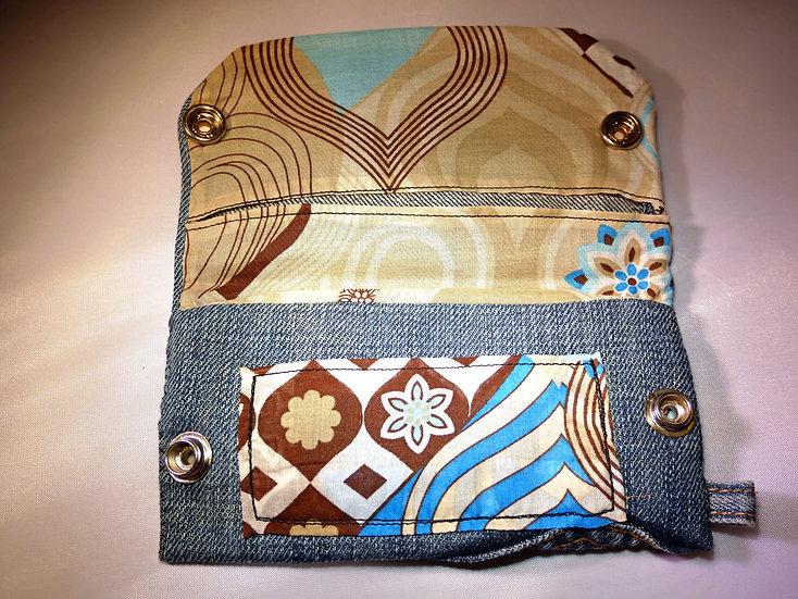 Petite pochette en Jean & motif Vintage