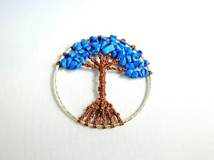 Collier Arbre de Vie Corail Bleu