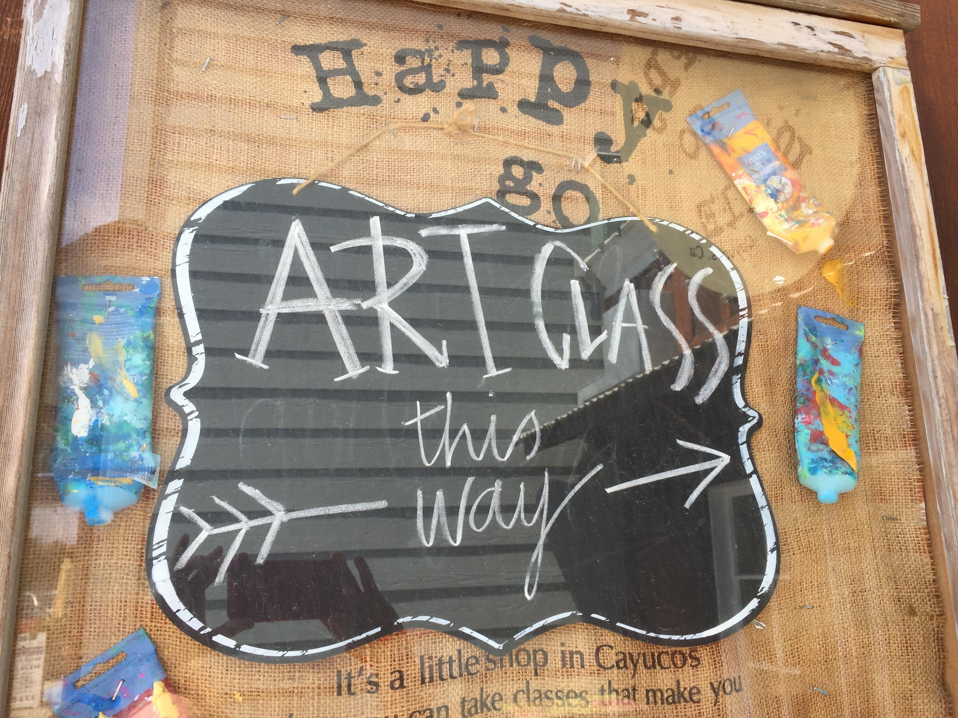 Art Class Sign