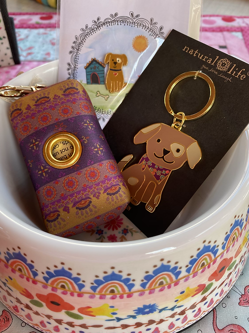 Pick one ☝️ poop bag holder, key chain, or dog pin