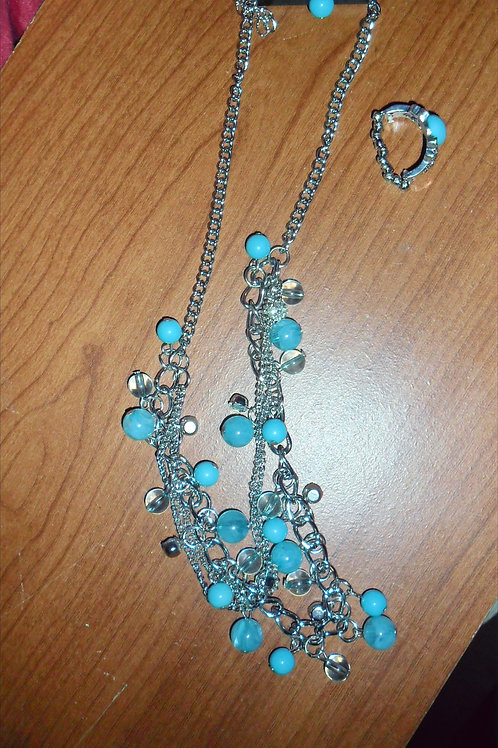 Turquoise Necklace and Ring Set