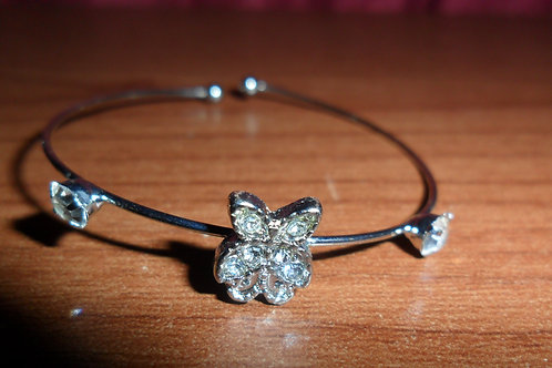 Adjustable Children's Rhinestone Butterfly Bracelet
