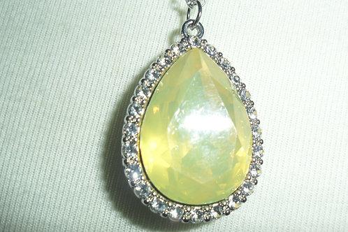 Yellow and Rhinestone Necklace