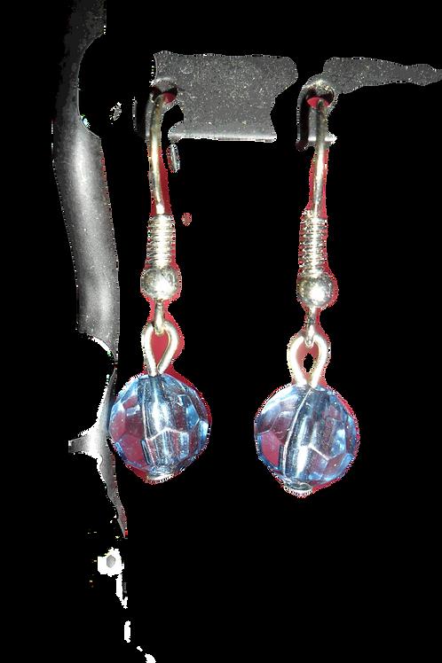 Translucent Light Blue Earrings