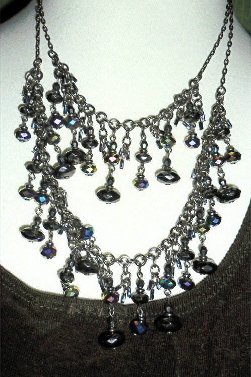 Black Irridescent Necklace