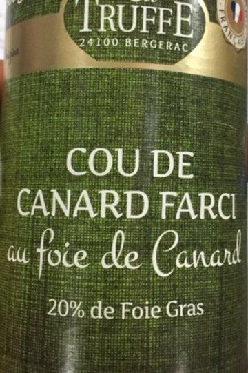 Cou de canard farci au foie de canard ( 20% de foie gras)