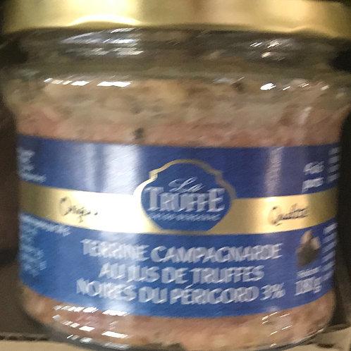 Terrine campagnarde au jus de truffes noires du Périgord 3%