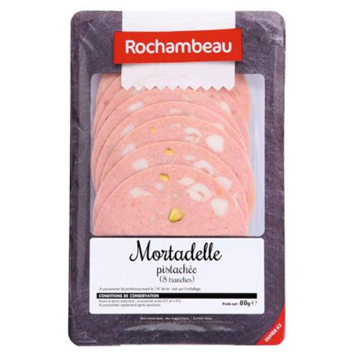 Mortadelle pistachée 8 tranches 80 g Rochambeau