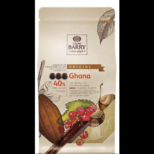 Chocolat de couverture au lait Ghana 40% 1 kg