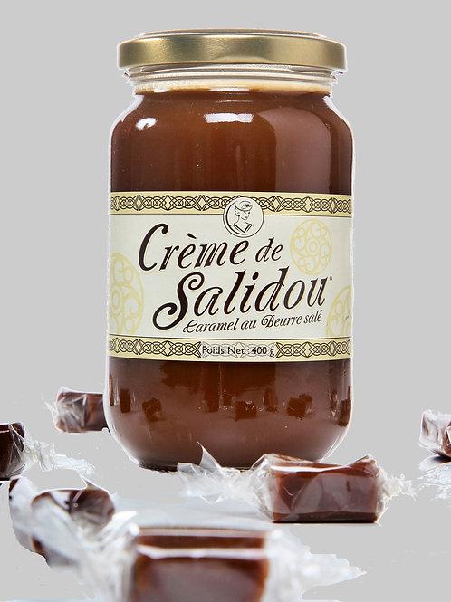 """le pot de 400 gr de créme de caramel notre """"Salidou """""""