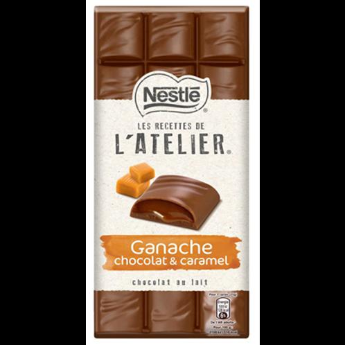 es Recettes de l'Atelier chocolat au lait ganache chocolat & caramel 150 g Nestl