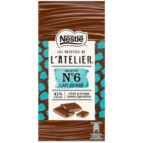 Les Recettes de l'Atelier lait corsé N°6 100 g Nestlé