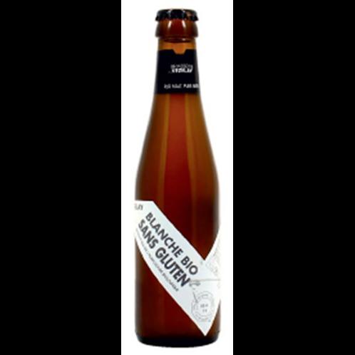 Bière blanche sans gluten Bio 4.4° 25 cl Vezelay, carton de 8 bouteilles