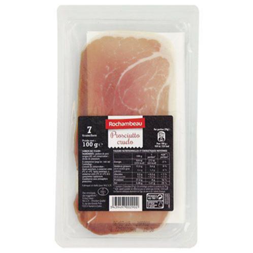 Jambon italien 7 tranches 100 g Rochambeau