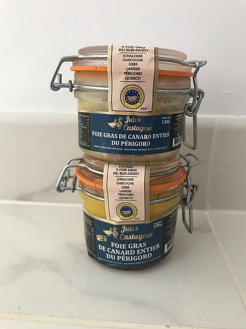Offre de verrine de foie gras entier de canard  du Périgord