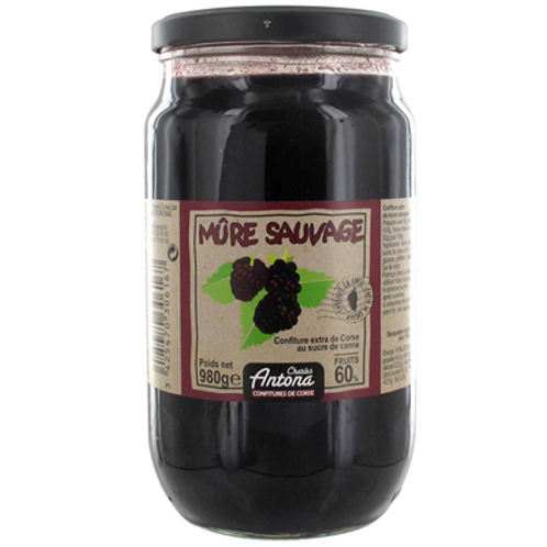 Confiture corse mûres sauvages 980 g Charles Antona