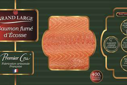Saumon Atlantique fumé 400 g Grand Large