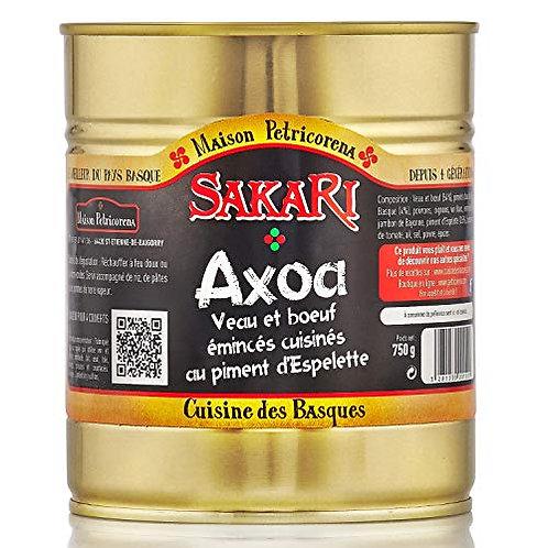 Axoa, 780 g : veau et boeuf cuisinés aux piments doux et piment d'Espelette